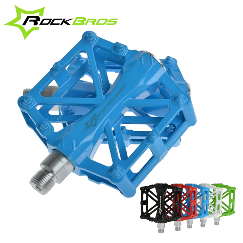 RockBros Ultralight Aluminium Alloy MTB Road Bike Pedals Bicycle Pedal One Pair Bearing Pedales Bicycle Parts 5 Colors, SG-CK36