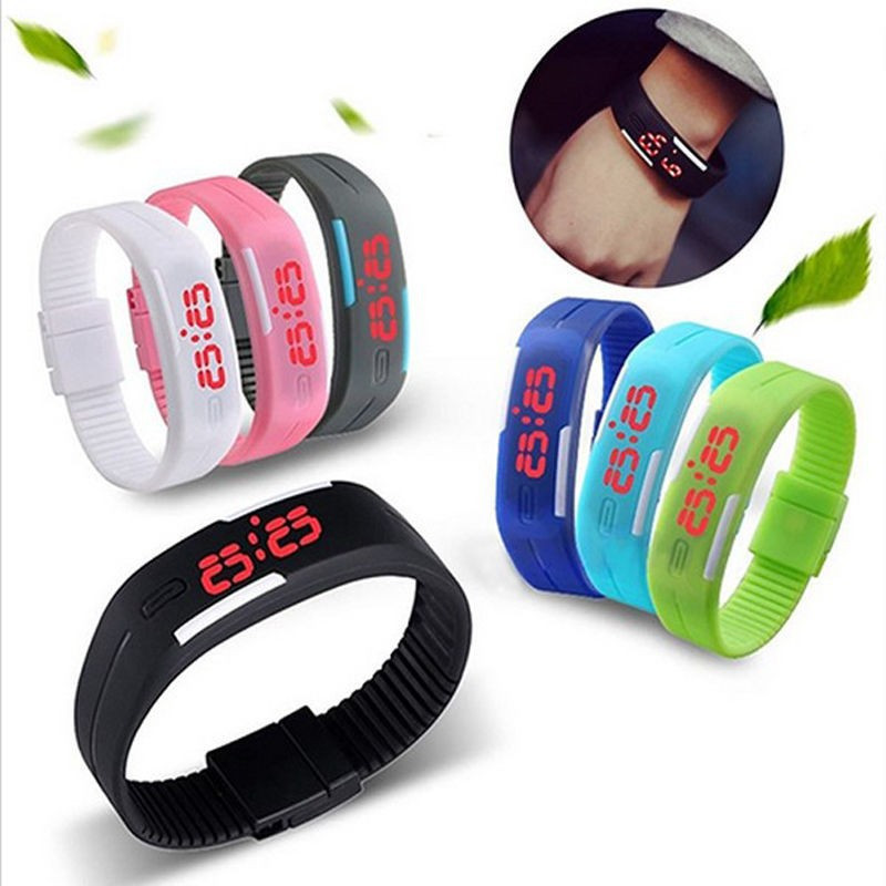 2017 New Fashion LED Watch Women Men Sports Watches Silicone Candy Multicolor Touch Screen Digital Bracelet Wristwatch Relogios(China (Mainland))