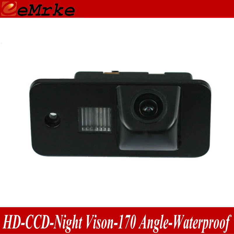 eeMrke For Audi S6 2005-2009 RearView Camera Back Up Parking HD Night Vision Waterproof License Plate Light Lamp Camera(China (Mainland))