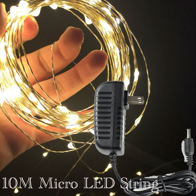 33Ft 100Led Copper Wire Starry String Lights,Include Power Adapter,Decorate for Christmas,Party,Wedding,Holidays Valentines Day<br><br>Aliexpress