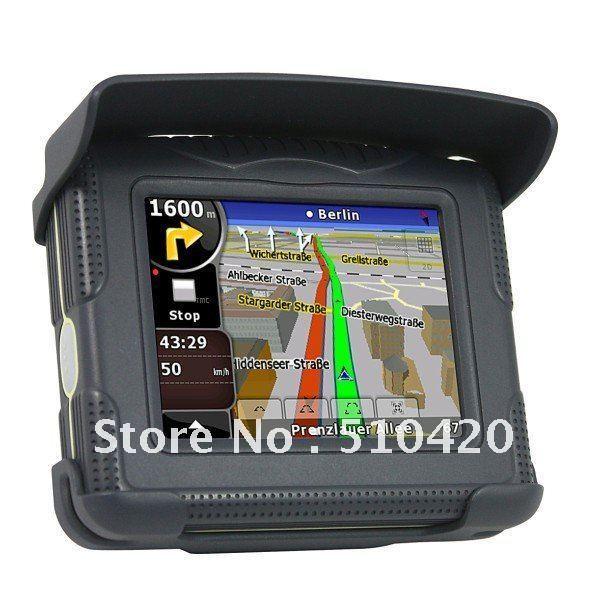 Wholesales Free Mail Shipping 3.5 inch Moto GPS, motocycle GPS .moto waterproof navigation