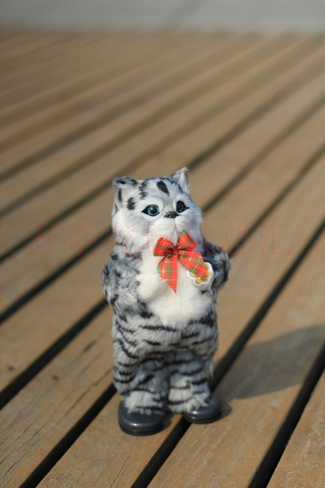 cute simulation cat toy gray  Electric cat toy singing and dancing cat doll gift about 30cm<br><br>Aliexpress
