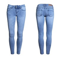 2016 Fashion S- 2XL Low Waist Jeans High Elastic Plus Size Women Jeans Femme Washed Casual Skinny Pencil Denim Pants China