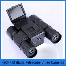 2016 Hot Sale outdoor home telescope 12*32 1000M 2 inch LCD digital binoculars telephoto camera recording 720P HD Video Cameras(China (Mainland))