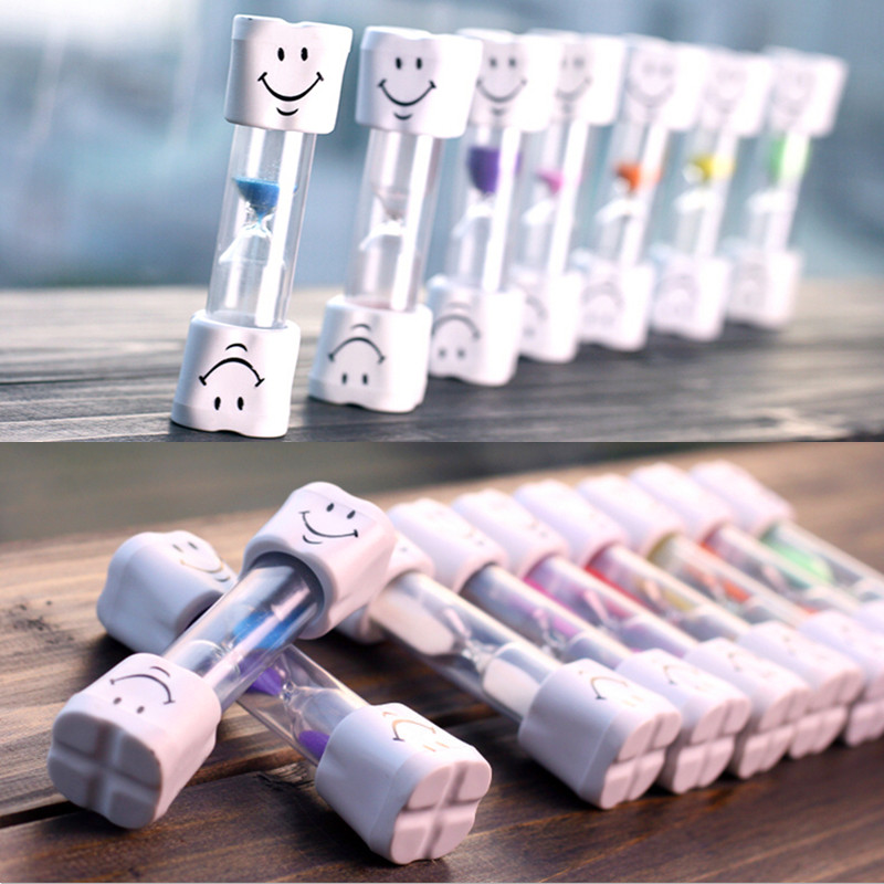 2017 New 3 Minutes Smiling Face The Hourglass Decorative Household Items,Kids Toothbrush Timer Sand Clock Reloj De Arena Gifts 1