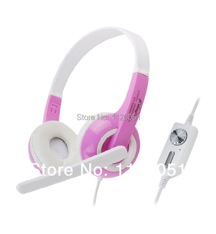 Beautiful and fashion game headphone with microphone 2.5M cable KT-5200MV with tracking code(China (Mainland))