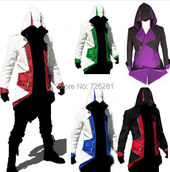 Hot Assassins Creed 3 III Conner Kenway Hoodie Coat Jacket Adult Men Game Cosplay Costume Overcoat Custom Made - M-Show Store store