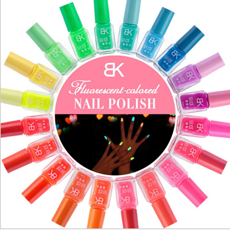 Multi 20 colors Fluorescent Neon Nail Art Polish Glow In Dark Nail Varnish 7ml<br><br>Aliexpress