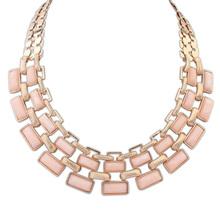 New 2015 fashion Vintage Interlocking rhinestone Necklaces & Pendants Wholesale Women Jewelry Statement  long Necklace(China (Mainland))
