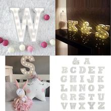 Decorative Letters Light Wood 26 Letters Nordic LED Light Bedroom Lamp Wall Symbol Lights Party Car Decoration Light(China (Mainland))