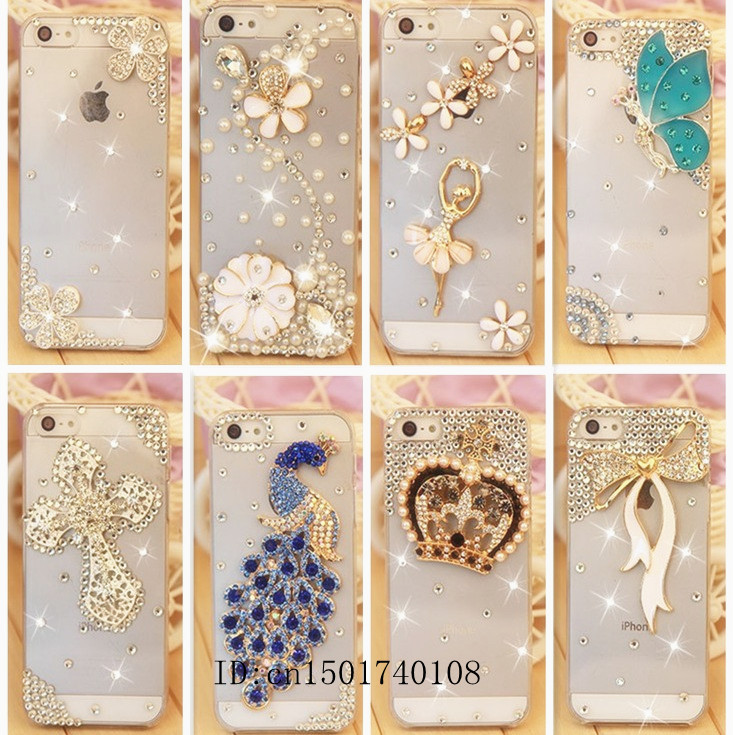 Rhinestone Case Cover For Apple Iphone 5 5s Iphone 4 4s,New Arrival Diamond Hard Back Mobile phone Case Cover Protective Shell(China (Mainland))