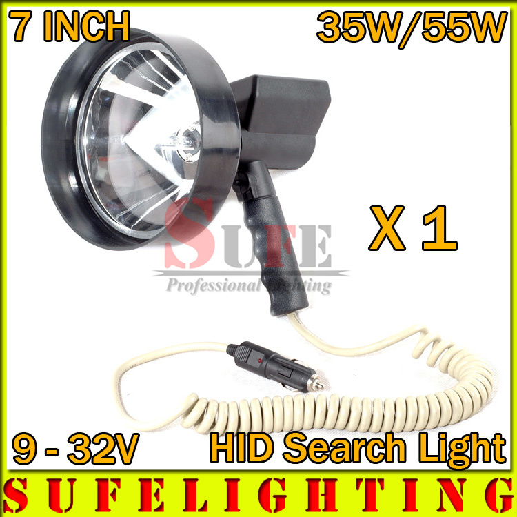 NEW 1PCS 7'' 35W 55W HID SEARCH  Light Outdoor working Boat Hunting Xenon Handheld Spot Light Repalce LED Search Light