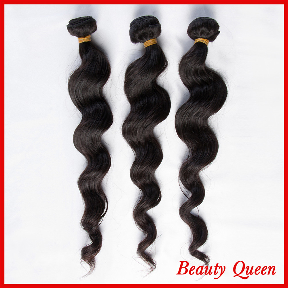 7A Human hair Loose wave Natural Color Can Be Dyed Tangle Free No Shedding 3 Bundles DHL Free shipping
