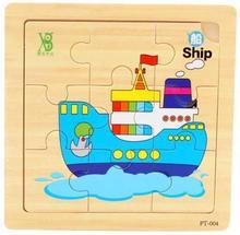 Madera / niño rompecabezas puzzle / rompecabezas / 9 unidades de madera del bebé animales / 0-1-2-3 – año – viejo juega para children-3