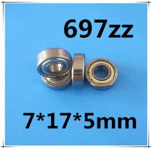 Buy 10pcs/Lot 697ZZ 697 ZZ 7x17x5mm Mini Ball Bearing Miniature Bearing Deep Groove Ball Bearing Brand New for $4.32 in AliExpress store