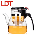 LDT 600ml Handmade Clear Borosilicate Glass Teapot With Infuser Tea Pot Kung Fu Glass Tea Kettle