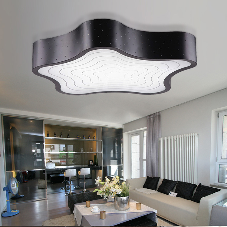 Led Christmas Ceiling Lights Acryl Lampshade Ceiling White Black Lamp Lamp For Bedroom Living
