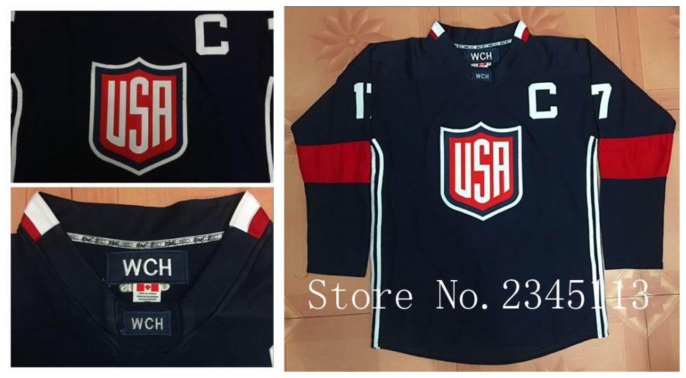 New Design 2016 World Cup of Hockey Jerseys, TEAM USA Hockey Dark Blue Jerseys Accept Custom Jerseys ( Any Name and Number )(China (Mainland))