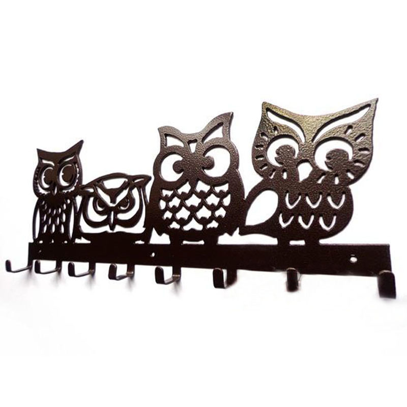 Original Owl Design Robe Hook Coat/Hat/Bag Cartoon Wall Hanger Home Improvement Decor Free Shipping(China (Mainland))