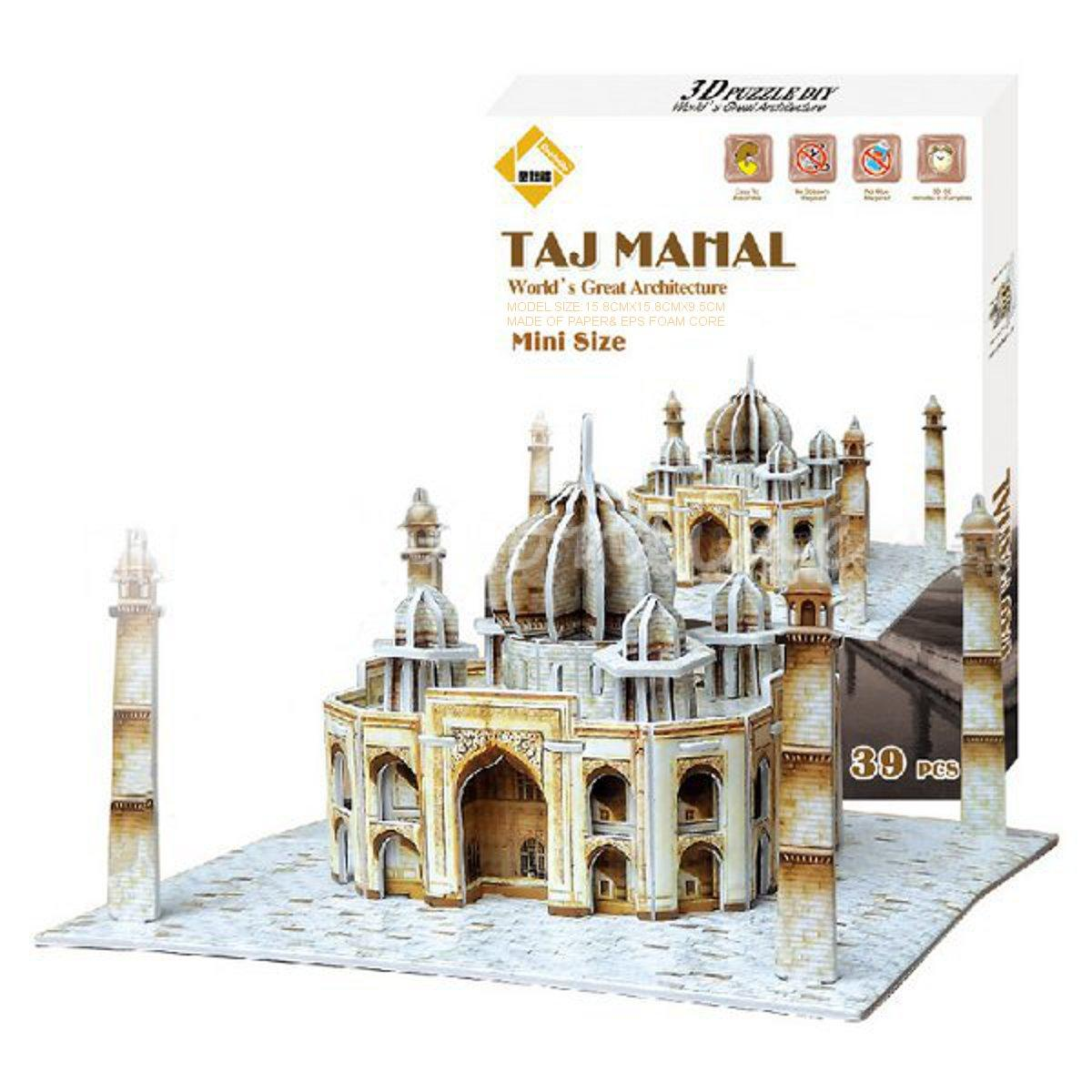 Best Price Colourful Carboard Jigsaw Model 3D Puzzle Taj Mahal DIY Toy Xmas Gift Paper EPS Foam Core Intelligent Game(China (Mainland))
