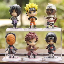 2016 6pcs/lot Naruto Action Figure Full Set  Doll Q Version  Japan Anime Naruto Toy Collectibles Exquisite gift Box(China (Mainland))