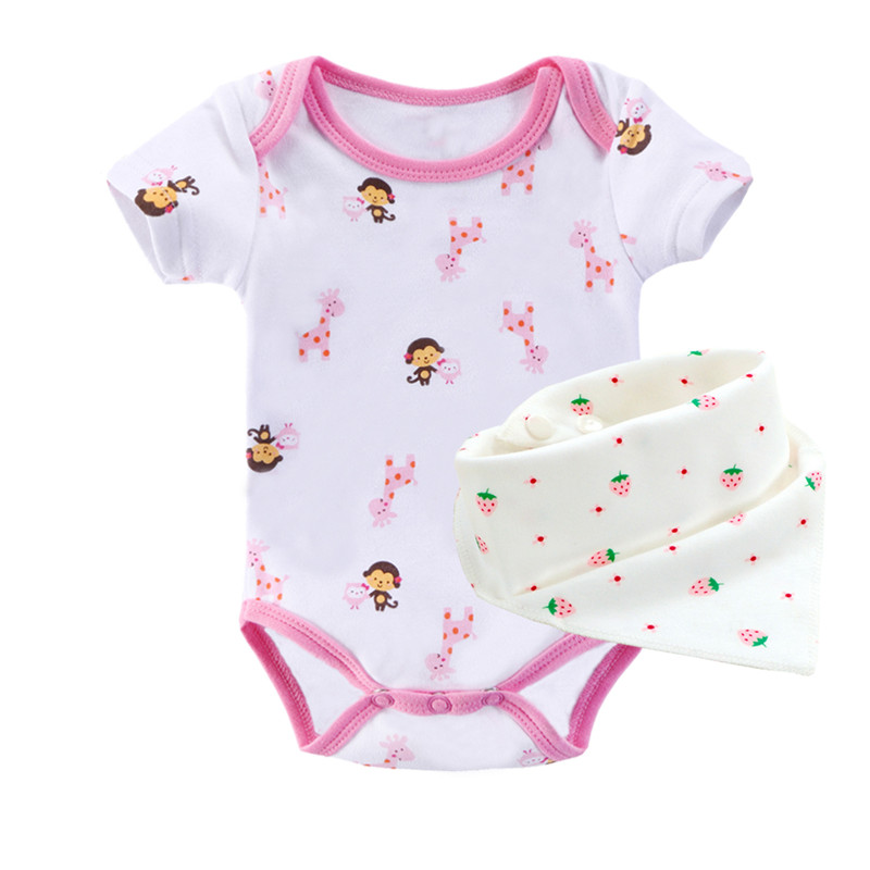 100%Cotton Baby Boy Girl Clothes 0-9M Clothing For Babies Carters Baby Clothes With Bibs Baby Set Bebek Next Free Shipping F6(China (Mainland))