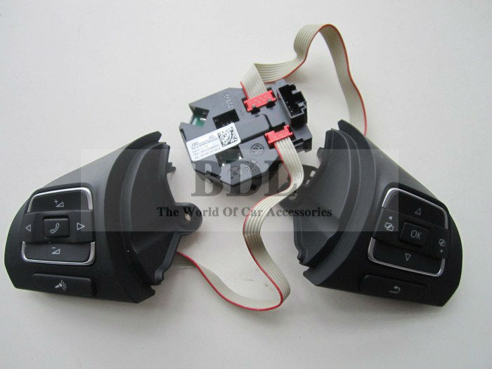 OEM VW Golf MK6 Tiguan Passat B7 CC Multifunction Steering Wheel Button/Switch+Module 5C0 959 538 B+5C0 959 537 A+5K0 959 542A(China (Mainland))