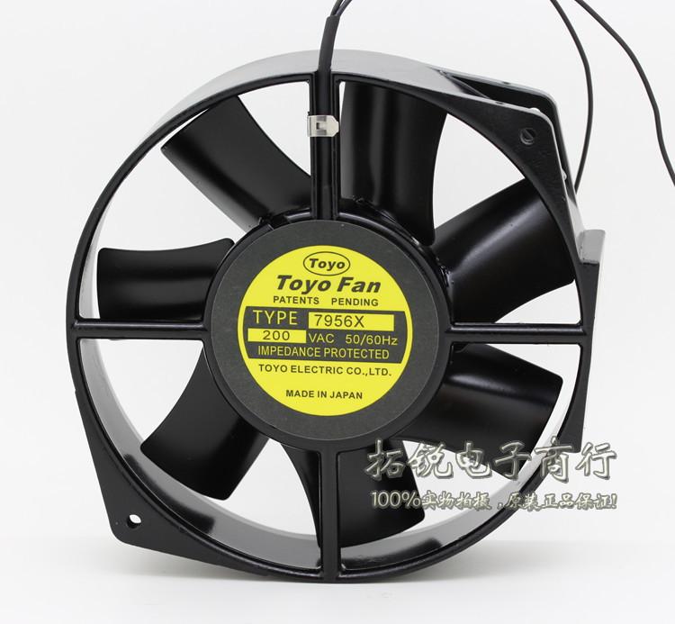 Free Shipping Japanese original FAN 7956X 17050 17cm AC 200V DC fan Full Metal(China (Mainland))