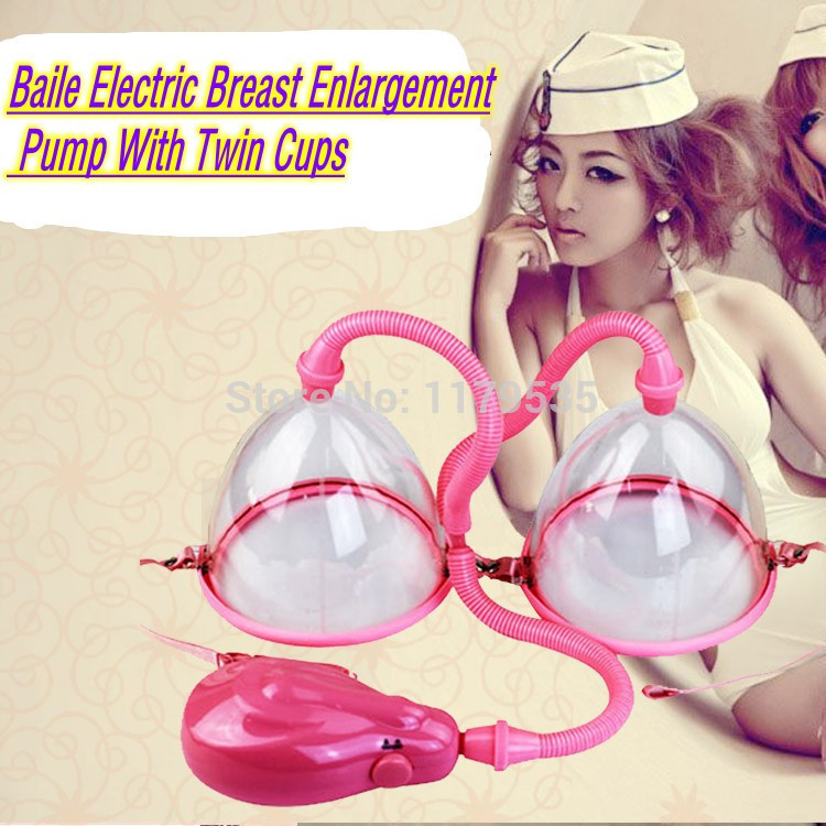 Baile Electric Breast Pumps Enlargement With Twin Cups, Electric Air Chest Pump, Adult Sex Toys for Women,Sex Products<br><br>Aliexpress