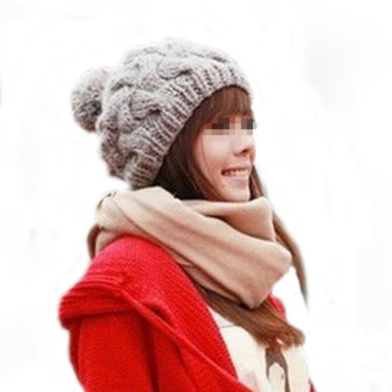 New Hat Top Quality Women Cap Cotton Warm Beanie Cap Autumn Winter Women's Hats Knitted Hats Beanies(China (Mainland))