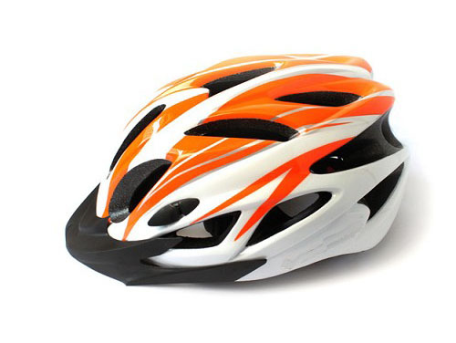2014 NEW Cycling Bike Sports Bicycle Orange Adult Men Safety 18 Holes Helmet with Visor(China (Mainland))
