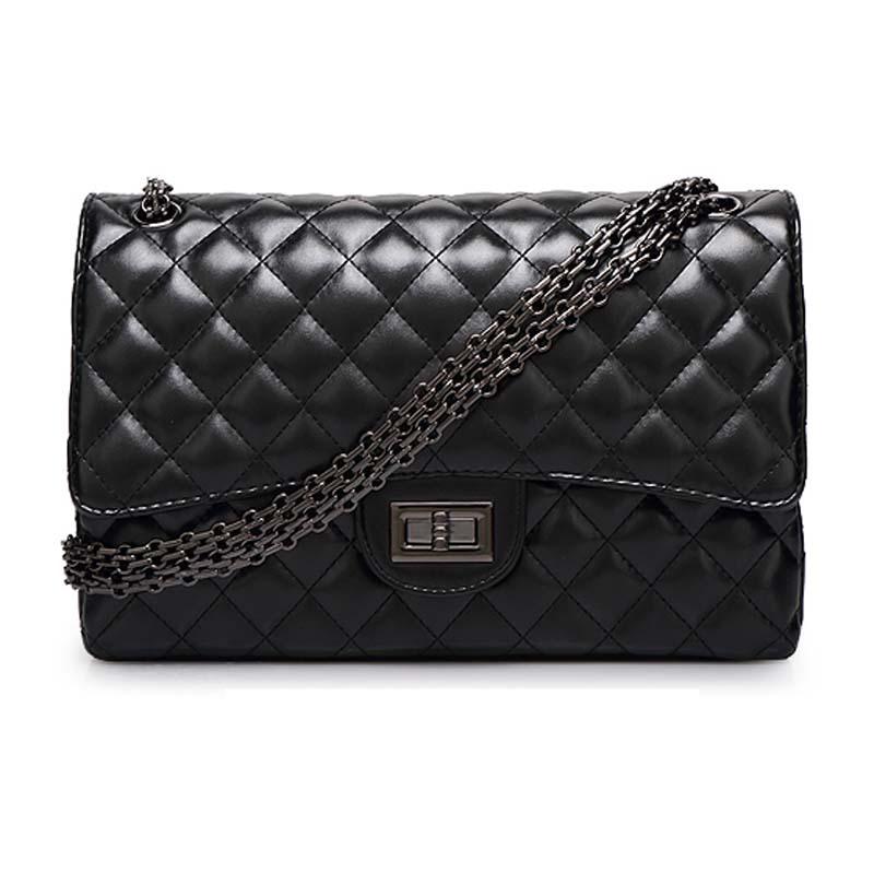 2015 Bolsos Mujer De Marca Famosa PU Leather Women Messenger Bags  Handbags Plaid Chain Shoulder Bag Bolsas Feminina Crossbody