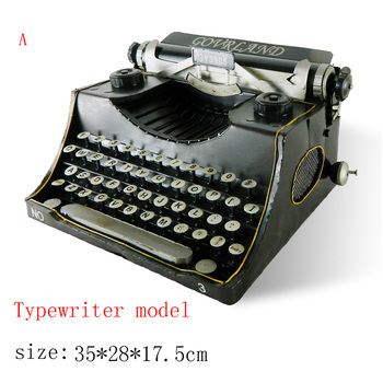 Antique craft typewriter model handmade craft home decoration bar coffee house display birthday gift