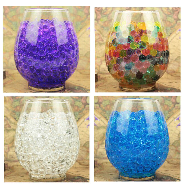 5000pcs Water Plant Flower Jelly Magic Crystal Soil Mud Water Pearls Gel Beads Balls For Family Hotels Bars Restaurants(China (Mainland))