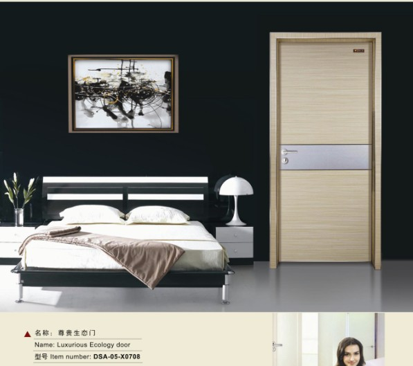 Cheap paint colors china modern interior mdf wood bedroom door design(China (Mainland))