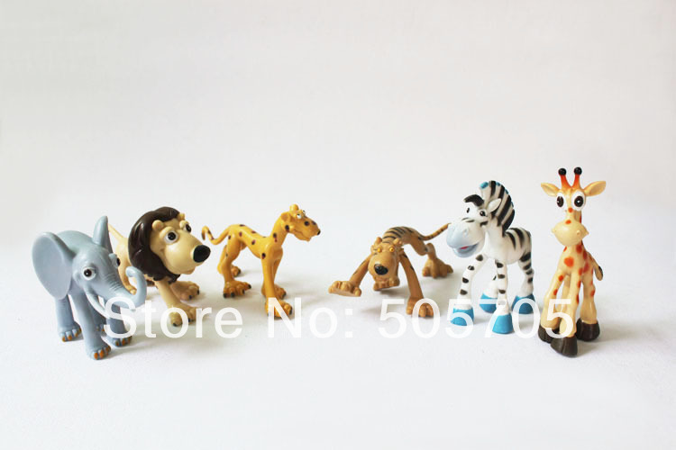 free shipping 6pcs cartton wild animal model set educational toys plastic animal figure children toys<br><br>Aliexpress