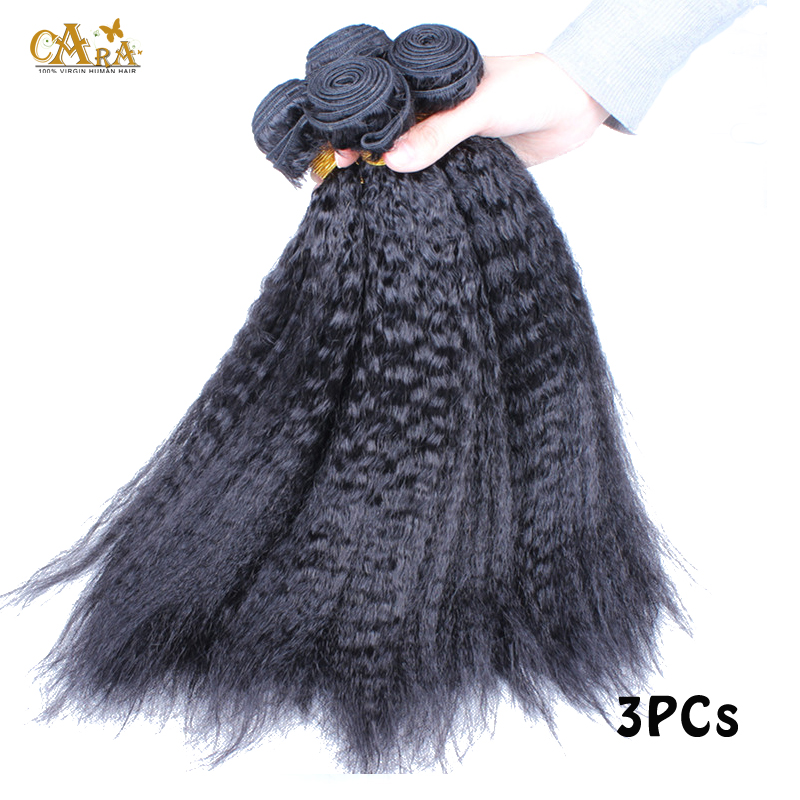 New Mongolian Virgin Hair Kinky Straight Hair Extensions 6A Coarse Yaki Straight Human Hair Weave Italian Yaki Hair Bundles