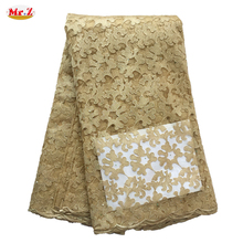 Mr.Z Latest African Laces 2016 High Quality Tulle Fabric Laces Nigerian Lace French Cord Lace Fabric For Women Dress N1029(China (Mainland))