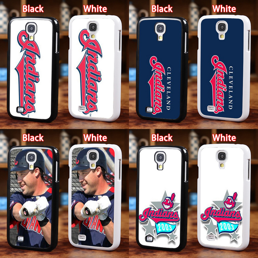 Cheap MLB Cleveland Indians Baseball Team Phone Hardshell For Samsung Galaxy S4 i9500 S5 i9600 Plastic Glossy Free Shipping(China (Mainland))