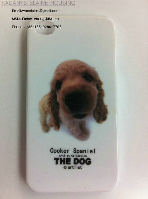 New Good Quality Gilding Hard Case dog case for iPhone 4