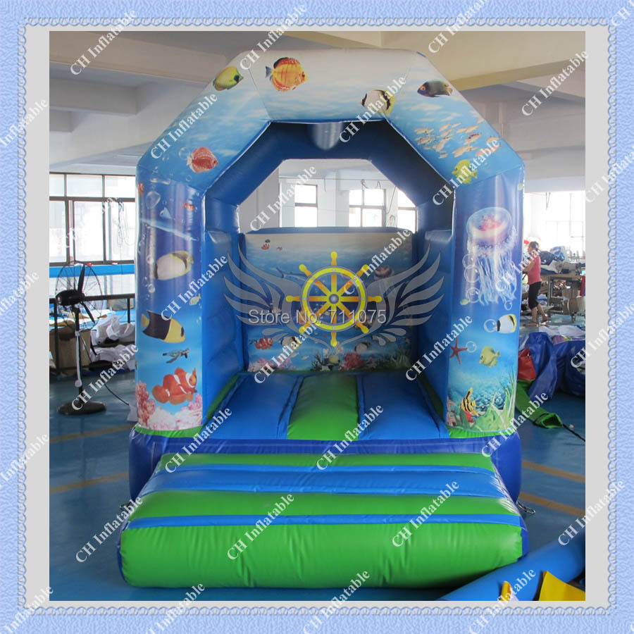 DHL FREE Shipping Inflatable Sea world Bouncer + Free CE or UL certificated Blower Commercial Inflatable Bounce House(China (Mainland))