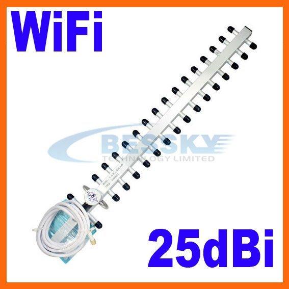 2.4GHz 25dbi WiFi Antenna For Wireless Router Outdoor Yagi Antenna