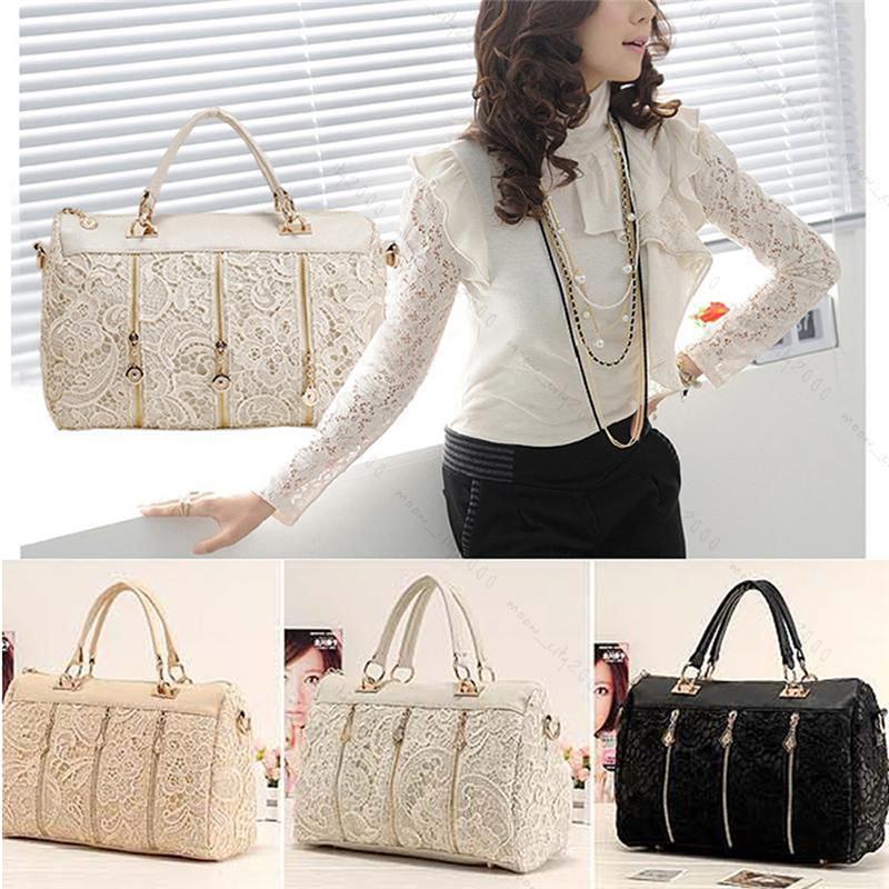 2015 Brand Design Fashion Messenger Bag Tote Shoulder Bag Vintage Women PU Leather Lace Popular Handbag