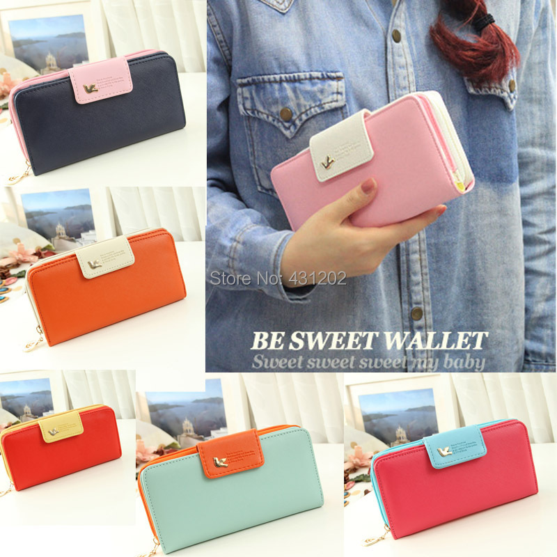 Candy colors fashion women wallet long style PU leather lady wallets female coin purse handbag money purses mobile bags - Online Store 431202 store