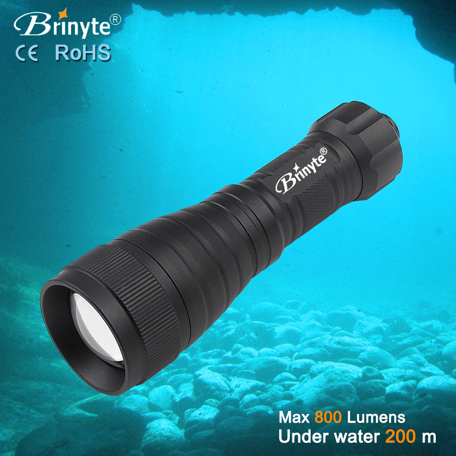 Brinyte DIV05V Professional Scuba Torch Video Diving Flashlight(China (Mainland))