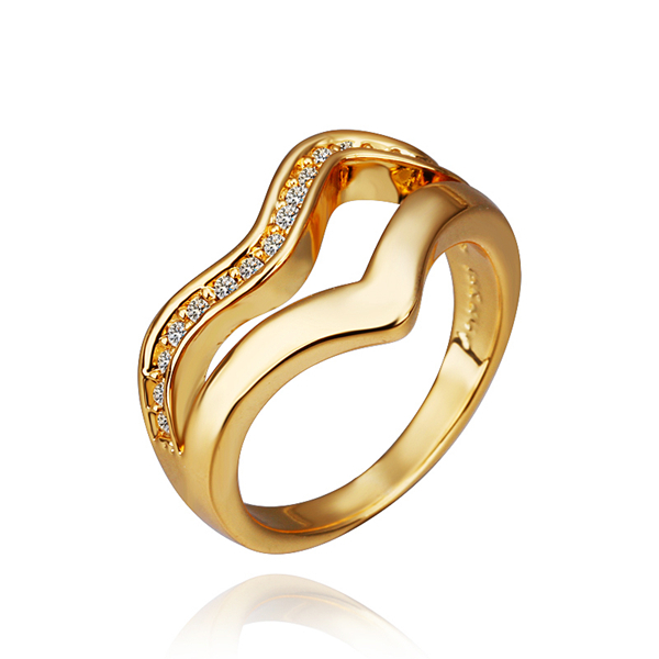 2015 new kpop fashion wholesale 18 k gold created gemstone jewelry brand designer crystal double wings rings for women finger(China (Mainland))