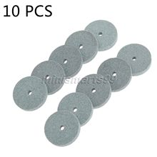 10pc/set Mini Green Grinding Wheel Polishing Mounted Stone Abrasive Tool For Bench Grinder Dremel Rotary Tool Accessory Dia 20mm