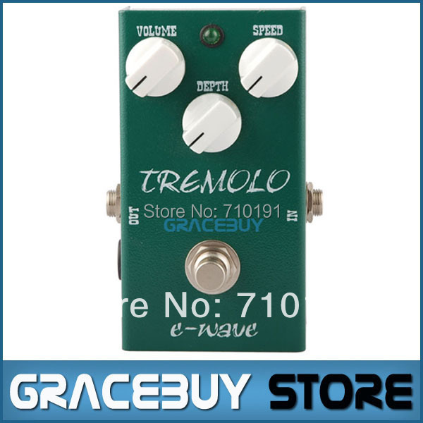 E-WAVE Effect Analog Tremolo New Series Solid Case Switch Electric Guitar Pedal True Bypass Nice Musical Instrument(China (Mainland))