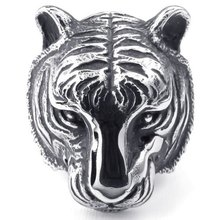"""You are the king"",  Vintage Tiger Ring,whose size is 8,9,10,11,12,and the color is black, silver(China (Mainland))"