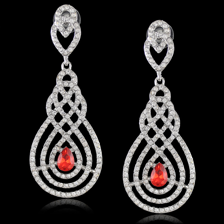 Wholesale Big Fashion Earrings New luxury Crystal Big